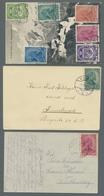 Liechtenstein: 1917, Die Zweite Freimarkenausgabe Fein Präsentiert Auf Drei Belegen, Davon Zwei Jewe - Lettres & Documents
