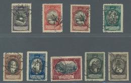 Liechtenstein: 1921, Freimarkenausgabe, Kompletter Gestempelter Satz In Prachtqualität, Die 80 Rp. L - Oblitérés