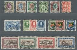 Liechtenstein: 1924 - 1928, Freimarken Und Sondersätze, Jeweils In Tadelloser Erhaltung, Einzig Die - Oblitérés