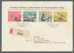 Liechtenstein: 1930 - 1957, Kleines Lot Besserer Gestempelter Ausgaben In Tadelloser Qualität. Dabei - Oblitérés