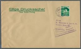 Liechtenstein: 1940, Landschaften Und Burgen, 5 Rp. Als EF Auf Drucksachenumschlag Mit Stempel Vaduz - Lettres & Documents