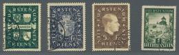 Liechtenstein: 1939 Und 1952 - Freimarkenausgaben Wappen / Franz Josef II. Bzw. Burg Vaduz Gestempel - Oblitérés