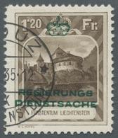 Liechtenstein - Dienstmarken: 1932, Freimarke 1.20 Fr. Mit Aufdruck; Zähnung 11 1/2. Tadelloses Exem - Service
