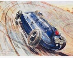 Renault Nervasport  -  Record Du Monde 48 Heures Montlhéry  -  Artist: Géo Ham -  Carte Postale Moderne - Other