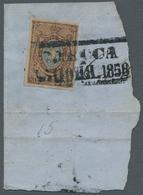 Russland: 1857, Freimarke 10 Kopeken Dunkelbraun/hellblau, Voll- Bis Breitrandig Geschnitten Entwert - 1857-1916 Empire