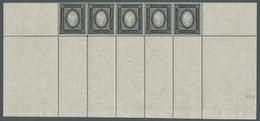 Russland: 1889. Freimarke 3,50 Rubel Schwarz/mittelgelblichgrau, Im Waagerechtem Postfrischen Fünfer - 1857-1916 Empire