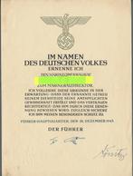 Autographen: DÖNITZ, KARL - Ernennungsurkunde Zum Marinebaudirektor Vom 28.12.1943, Mit Faksimiliert - Handtekening