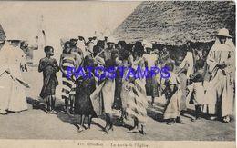 139572 AFRICA SUDAN SOUDAN COSTUMES NATIVE THE EXIT FROM THE CHURCH POSTAL POSTCARD - Sudan