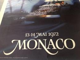 AFFICHE ORIGINALE MONACO 1972  GRAND PRIX COURSE VOITURE RIVIERA FORMULE 1 - Manifesti