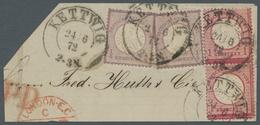Deutsches Reich - Brustschild: 1872, 1 Groschen Karmin, Kleiner Schild Im Senkrechten Paar Mit Dem G - Germany