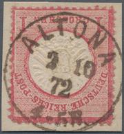 Deutsches Reich - Brustschild: 1872, Großer Schild 1 Gr Karmin Auf Briefstück Mit Seltenem Rostbraun - Germany
