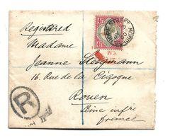 GBV241 / Gr. Britannien - Victoria, Mi.Nr.92, Einzelfrankatur Nach Rouen Jul. 31, 1900, Registered - Storia Postale