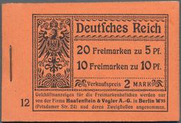 Deutsches Reich - Markenheftchen: 1913, Germania-Markenheftchen 2 Mark Auf Orangefarbenem Karton, Or - Markenheftchen