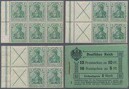 Deutsches Reich - Markenheftchenblätter: 1910, Germania-Markenheftchen 2 Mark, Lot Von Drei Heftchen - Markenheftchen