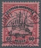 Deutsch-Ostafrika: 1906, 60 Heller Dunkelrötlichkarmin/schwarz, Zentrisch Gestempeltes Prachtstück, - Kolonie: Duits Oost-Afrika