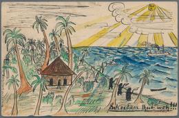 Deutsch-Ostafrika - Besonderheiten: 1900, 5 Pfg. Krone/Adler Ganzachenkarte Auf Der Rückseite Handil - Kolonie: Duits Oost-Afrika