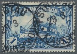 Deutsche Kolonien - Kiautschou: 1906, 1 Dollar Schwärzlichblau, Sauber Gestempelt Mit Ordentlicher Z - Colonie: Kiautchou
