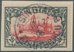 Deutsche Kolonien - Kiautschou: 1905, Kaiseryacht 2 1/2 Dollar Im Friedensdruck Mit 26:17 Zähnungslö - Colonie: Kiautchou