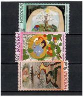 Moldova 2009 . Children Paintings. 3v: 1.20, 1.50, 5.00+0.20. Michel # 652-54 - Moldavia
