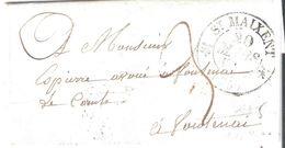 Vendée :- ST MAIXENT Dateur Type 12 Taxe 3 Manuscrite - 1801-1848: Voorlopers XIX
