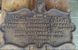 Plaque Funéraire. Jean-Baptiste Charlot époux De Augustine Barras. Annevoie 1894. Cimetière. Mort - Obj. 'Remember Of'