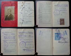 Yugoslavia C1925 Slovenia Croatia Vintage Expired Passport Revenue Stamps Canada Germany Austria BP3 - Documenti Storici
