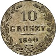 Polen: 1840, Zar Nikolaus I., 10 Groszy In Vorzüglicher Erhaltung. - Polen