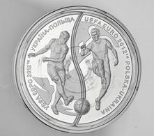 """Polen: 2012, 10 Zloty Sonderprägung Zur """"Fußball-Europameisterschaft 2012"""" Zusammen Mit Der 10 Hrywe - Polen"""