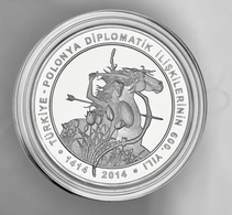 """Polen: 2014, 20 Zloty Sonderprägung Zur """"600jährigen Türkisch-Polnischen Diplomatischen Beziehung"""" I - Polen"""