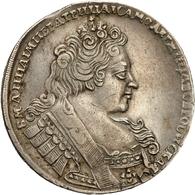 Russland: 1732, Zarin Anna, 1 Rubel Aus 729er Silber In Schöner Bis Sehr Schöner Erhaltung. - Russie