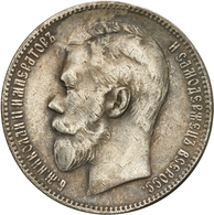 """Russland: 1904, """"Nikolaus II."""", 1 Rubel In Sehr Schöner Erhaltung. Dieser Jahrgang Der Münze Hatte E - Rusland"""