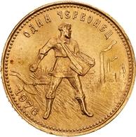 Sowjetunion - Anlagegold: 1976, Chervonetz (10 Rubel) Aus 900er Gold In Sehr Schöner Erhaltung. Der - Russie