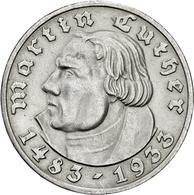 Drittes Reich: 1933, 450. Geburtstag Luthers, 2 Und 5 Reichsmark (Jaeger Nr. 352 Und 353) Aus Der Pr - [ 4] 1933-1945 : Tercer Reich