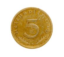 Drittes Reich: 1936, 5 Pfennig (Jaeger Nr. 363) Aus Der Prägestätte G In Sehr Schöner Erhaltung. - [ 4] 1933-1945 : Tercer Reich