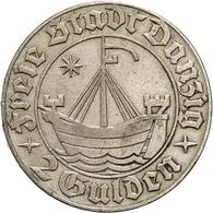 Danzig: 1932, 2 Gulden (Jaeger Nr. D16) Aus 500er Silber In Sehr Schöner Erhaltung. - Monedas