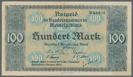 Memel: 1922, Komplette Serie Von Allen Neun Scheinen Der Handelskammer Vom 22. 2. 1922. Die Scheine - Billets
