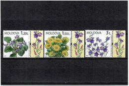 Moldova 2009 . Flowers. 3v: 1.20, 1.50, 3.00. Michel # 655-57 - Moldavia