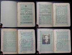 Yugoslavia C1929 Slovenia Croatia Vintage Expired Passport Revenue Stamps Canada United States Usa Us BP4 - Documenti Storici