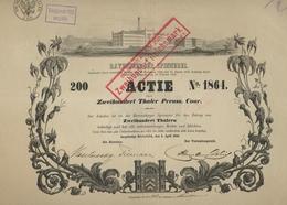Alte Aktien / Wertpapiere: HISTORISCHE WERTPAPIERE - DEUTSCHLAND - PREUSSEN. 1856, Gründer-Aktie übe - Azioni & Titoli