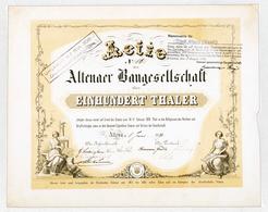 Alte Aktien / Wertpapiere: HISTORISCHE WERTPAPIERE - DEUTSCHES REICH - ALTENA. 1871, Gründer-Aktie D - Azioni & Titoli