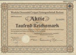 Alte Aktien / Wertpapiere: 1923-1943, Maschinenbau - Kollektion Von 17 Wertpapieren In Fast Durchgeh - Ohne Zuordnung
