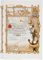 Alte Aktien / Wertpapiere: HISTORISCHE WERTPAPIERE - BELGIEN. 1904, Vorzugsaktie über 500 Belgische - Ohne Zuordnung