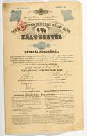 """Alte Aktien / Wertpapiere: UNGARN; 1895, 3 Pfandbriefe Der """"Pesti Magyar Kereskedelmi Bank"""" Aus Dem - Azioni & Titoli"""