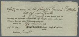 Bayern - Postscheine: 1811ff. - ANSBACH, 65 Postscheine Der Reitenden Bzw. Fahrenden Post Mit Vielen - Bayern