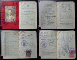 Yugoslavia C1926 Slovenia Croatia Vintage Expired Passport Revenue Stamps Canada Germany Austria BP5 - Documenti Storici