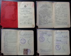 Yugoslavia C1926 Slovenia Croatia Vintage Expired Passport Revenue Stamps Canada Germany Austria BP6 - Documenti Storici