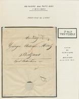 Belgien - Vorphila: VERVIERS; 1793-1815, Kleine Sammlung Von Acht Vorphilabriefen Auf Selbstgestalte - 1794-1814 (French Period)