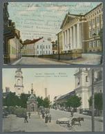 Estland: 1900-1946, Partie Von 40 Echtgelaufenen Ansichtskarten Mit Ansichten Verschiedener Estnisch - Estonie
