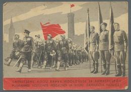 Estland: 1910-1946 (ca.), Partie Von über 60 Meist Unfrankierten Estnischen Ansichtskarten Mit U.a. - Estonie