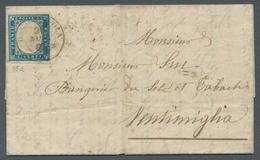 Italien - Altitalienische Staaten: Sardinien: 1855-1862, 5 C. Bis 40 C. Victor Emanuel II., Elegante - Sardaigne